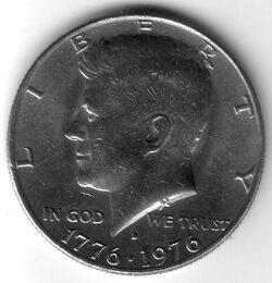 USD 1976 50 Cent D