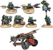 BSGOB006 Goblin Bolt Chucker and seven Goblins