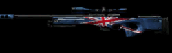 UK Flag L96A1 Magnum Low Resolution Transparent