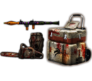 Rusty Chain Saw + Launcher Package