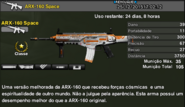 ARX-160 Space Stats
