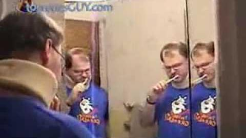 Tourettes Guy Brushing His Teeth