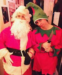 Santa and ho ho