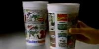 MARVEL COMICS: 1980's Hardee's Restaurant Commercial Marvel Superhero Cup