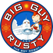 Big guy and rusty tas logo