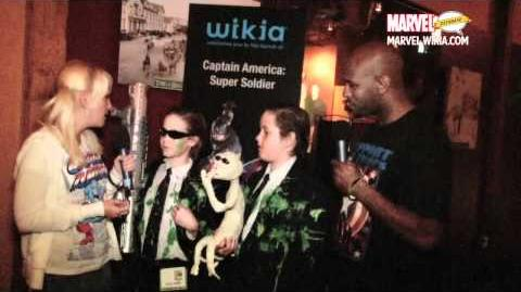 Wikia SEGA Captain America Party at Comic Con