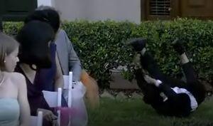 S06E12-Chang falls thru a bush