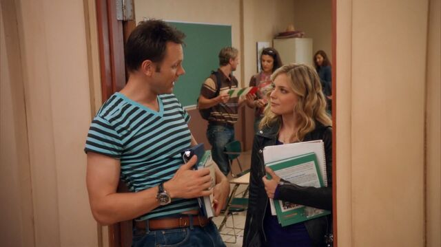 File:1x2 Jeff wearing Abed's shirt talking to Britta.jpg