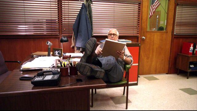 File:Dean Pelton's office Pierce making himself comfortabl.jpg