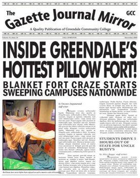 Gazette Journal Mirror Blanket fort headline