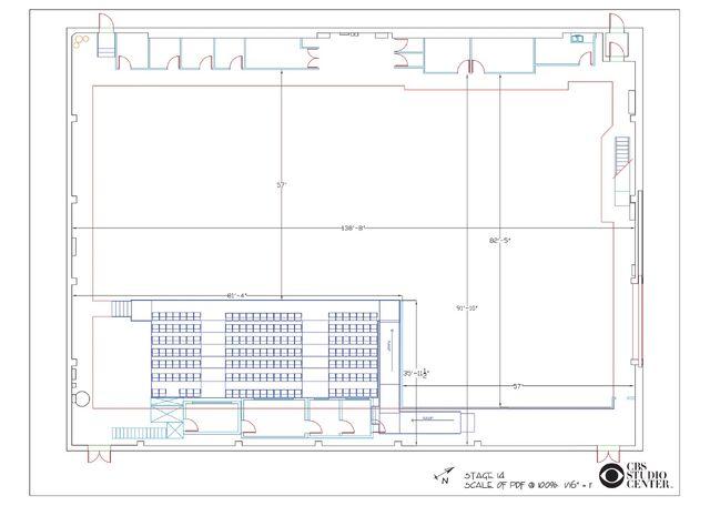 CBS Studio Center Stage 14 diagram
