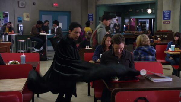 File:2X22 Abed's cape trick.jpg