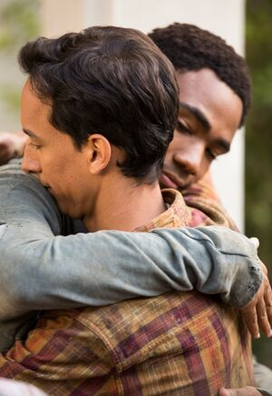 5X5 Troy and Abed hugging
