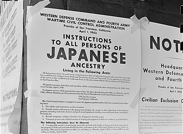 File:Posted Japanese American Exclusion Order.jpg