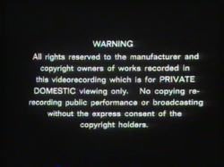 Thames Video 1986 Warning Screen
