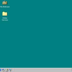 The default desktop for Windows 98
