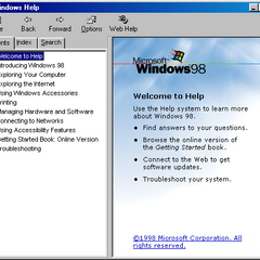 Windows Help in Windows 98
