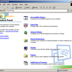 the special list view in Control Panel in Windows ME