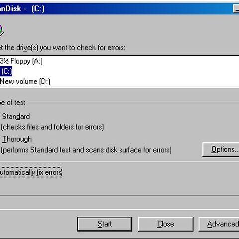 ScanDisk in Windows 98