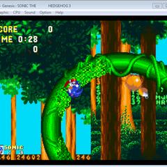 Sonic falling through a Loop