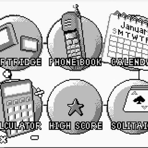 The main menu on the Game.com