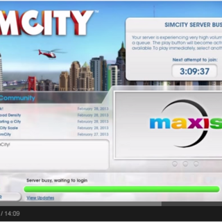 Server is Busy in SimCity 5