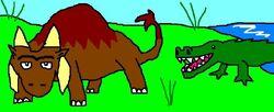 Boruna and Crocodile