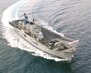 HMS Invincible underway
