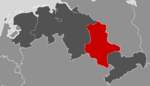 Location of Saxony-Anhalt