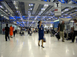 Suvarnabhumi Airport Departures Hall Bangkok Thailand