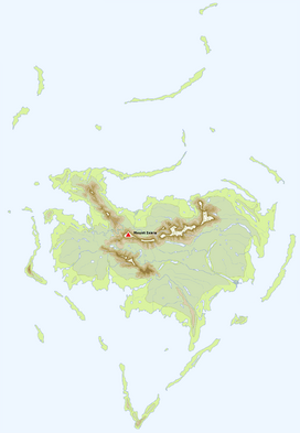 Location of Mount Ixara