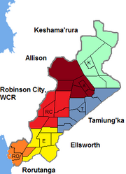 Map of New Welland Regions