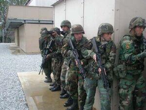 Texan troops in Maracaibo