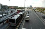 Metrobus in Istanbul
