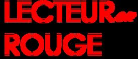 Lecteur en Rouge logo