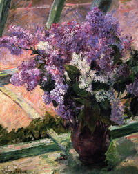 Lilacs in a Window, painting