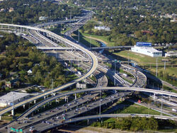 E45 and E10 Interchange in Houston