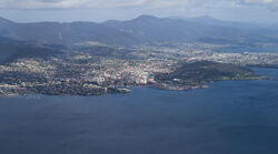 Hobart from the air