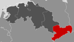 Location of Saxony-State