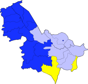 Sharqistan 2013 Election Map