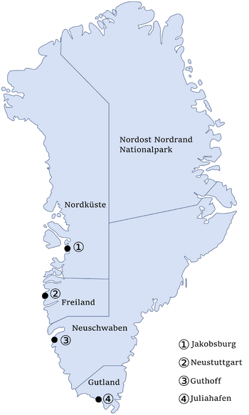 Map of Nordish administrative divisions