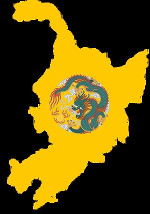 Manchuria Flag Map