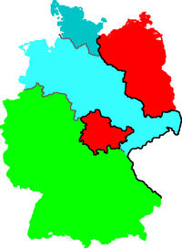 Iron Curtain around Saxony and Schleswig