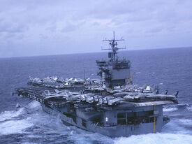 USS Enterprise From Port Quarter