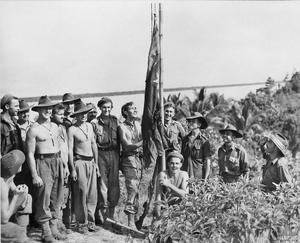 Raising the Australian Flag