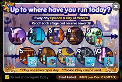 Up to where have you run today? - City of Wizards