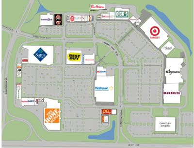 Map Of Nassau Park Pavilion Shopping Center In Princeton NJ