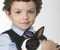 Simon Barlow and Leanne the Rabbit