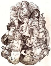 The Nine Muses by wegs
