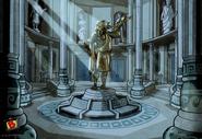 Olympus High Greek Statu